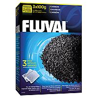 Наполнитель для фильтра Fluval «Carbon» активированный уголь (3 x 100 г)