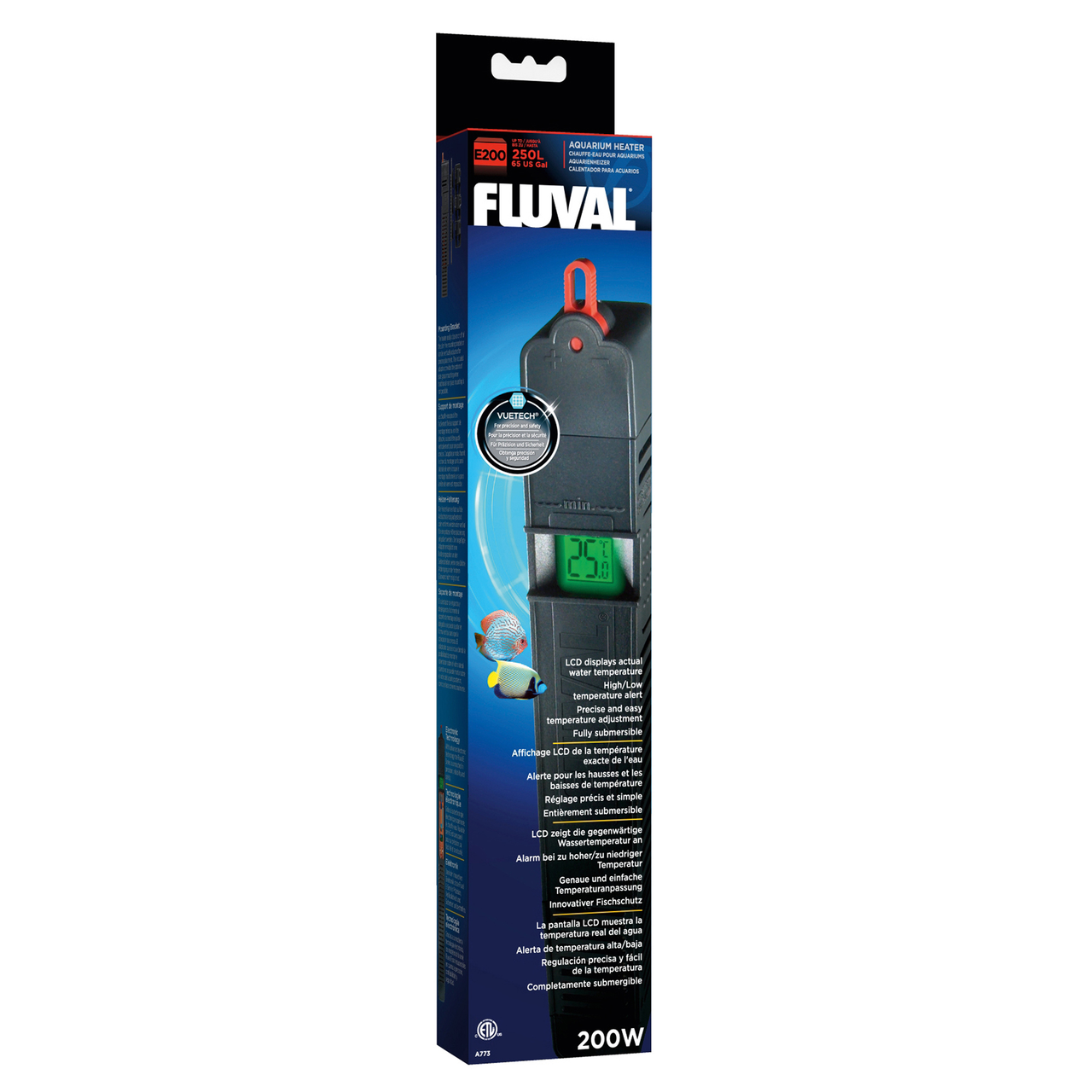 Обогреватель Fluval «E200» для аквариума до 250 л