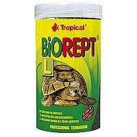 Сухой корм для сухопутных черепах Tropical в палочках «Biorept L» 250 мл