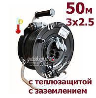 Удлинитель на катушке Bemis 50 м - 3х2.5 мм с теплозащитой