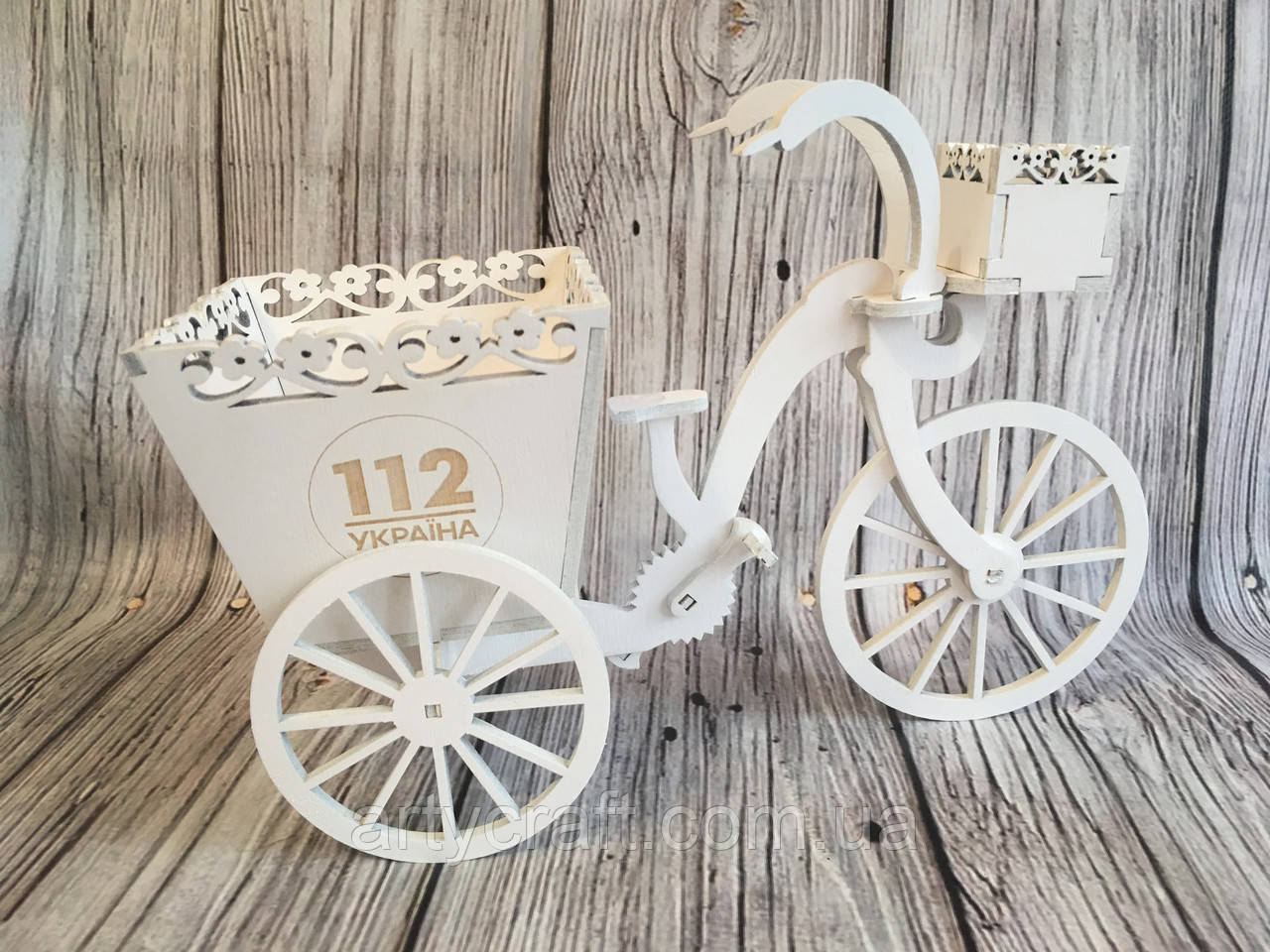 "Декоративное кашпо ""Велосипед"""