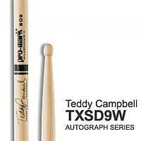 Pro-Mark TXSD9W Hickory SD9 барабанные палочки, подписная модель Teddy Campbell