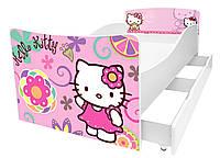 Детская кровать серия Kinder, кровать односпальная 160*80, без ящика, KR019