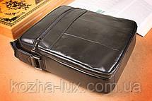 Мужская сумка вместительная из натуральной кожи, фото 3
