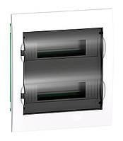 Щит розподільчий вбудовується, білий, двері прозора, на 24 модулів IP40, Schneider Electric Easy9