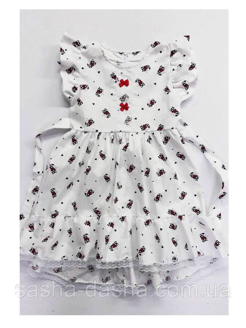 Нежное платье для девочки летнее