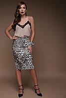 Леопардовая юбка до колен, фото 1