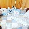 Простынка+ подушка+плед+ бортики в кроватку