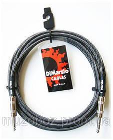DiMarzio EP 1710SS BKGY кабель для электрогитары J6,3 - J6,3 (3m)