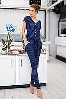 Комбинезон женский летний стильный штаны зауженные вискоза размеры:42-44,46-48
