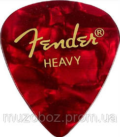 Fender 351 Premium Celluloid Red Moto Heavy медиатор