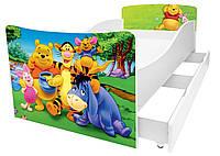 Детская кровать серия Kinder, кровать односпальная  160*80, с ящиком, KR007