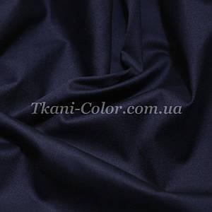 Ткань коттон стрейч темно-синий