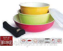 Набор посуды с керамическим покрытием Weiner из 3-х предметов
