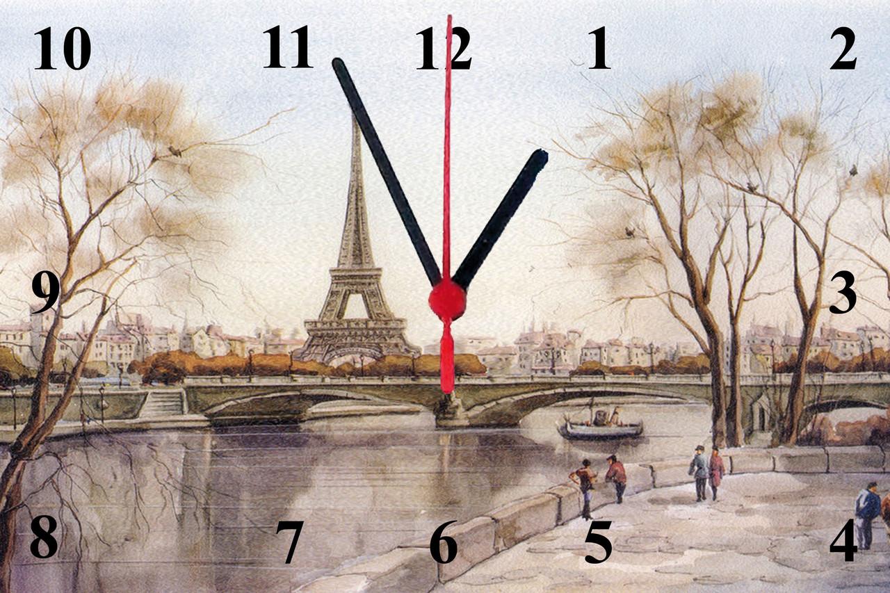"Часы настенные стеклянные ""Париж"""