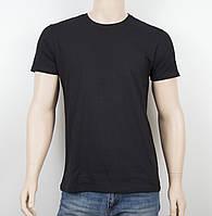 Мужская однотонная футболка 19001 черный