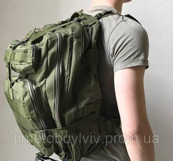 Тактический Штурмовой Военный Рюкзак Oxford 600D 45, Олива