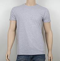 Мужская однотонная футболка 19001 меланж