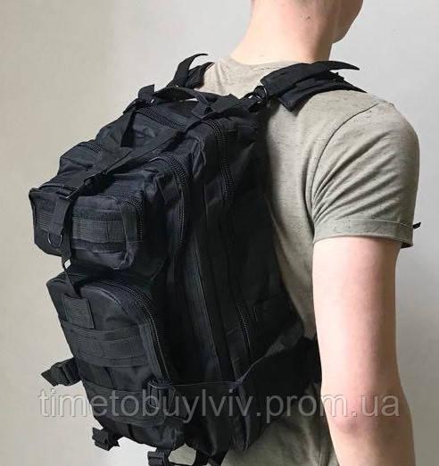 Тактический Штурмовой Военный Рюкзак Oxford 600D 35, Черный