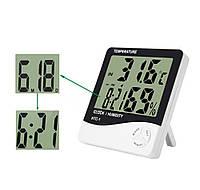 Электронный термо-гигрометр часы HTC-1