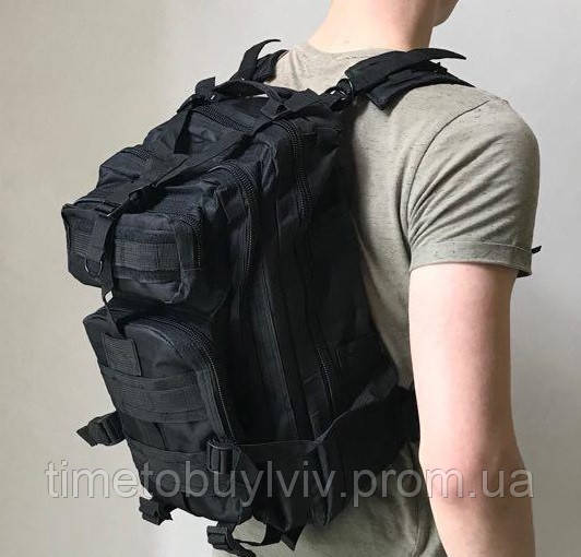 Тактический Штурмовой Военный Рюкзак Oxford 600D 25, Черный