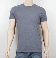 Мужская однотонная футболка 19001 серый