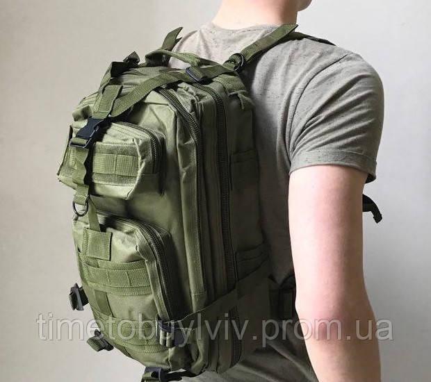Тактический Штурмовой Военный Рюкзак Oxford 600D 25, Олива