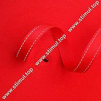 Лента светоотражающая текстильная 14 мм х 50 м – световозвращающая стропа для для одежды красная