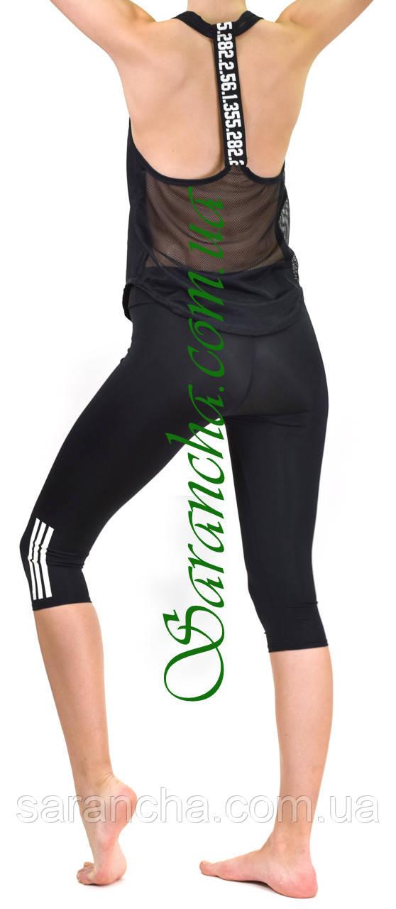 Жіночий спортивний комплект (норма), чорний, Америка