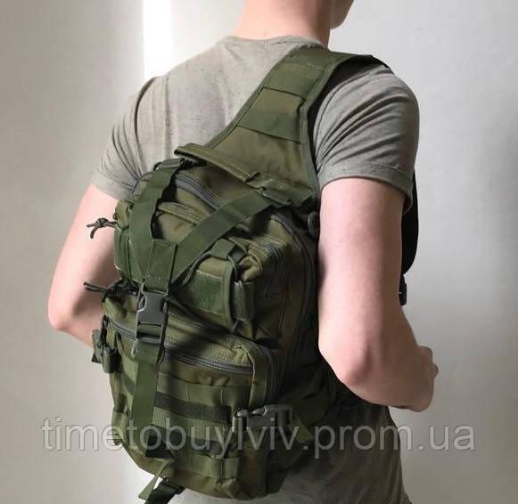 Тактический Штурмовой Военный Рюкзак Oxford 600D  Олива