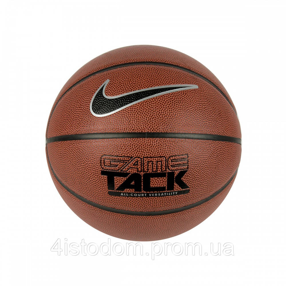 Мяч баскетбол Nike Game Tack 8p amber/black/metallic silver/black size 7