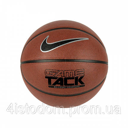 Мяч баскетбол Nike Game Tack 8p amber/black/metallic silver/black size 7			, фото 2