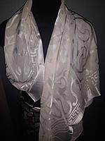 Церковный шелковый платок бежевый 100*100