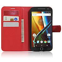 Чехол-книжка Litchie Wallet для Motorola Moto G4 XT1622 / Moto G4 Plus XT1642 Красный
