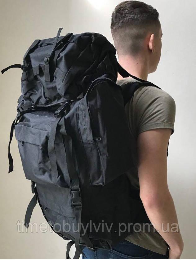 Тактический Штурмовой Военный Рюкзак Oxford 600D 65, Черный
