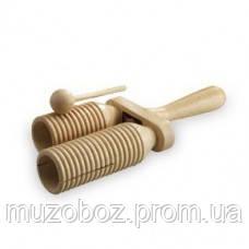 Remo RCP00400 деревянный сдвоенный тон-блок, с поверхностью гуиро