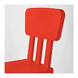 IKEA МАММУТ Стол детский, красный для дома и улицы, 77x55 см, фото 2