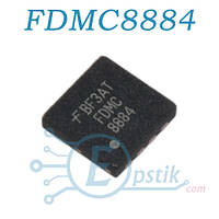 FDMC8884, mosfet транзистор N канал, 30В 15А, MLP3.3x3.3