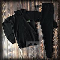 Спортивный костюм Lacoste черного цвета (люкс копия)