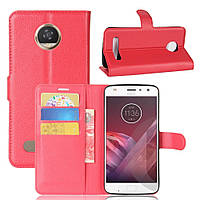 Чехол-книжка Litchie Wallet для Motorola Moto Z2 Play XT1710 Красный