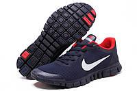 Кроссовки мужские в стиле Nike Free Run 3.0 V2, Dark Blue\Red