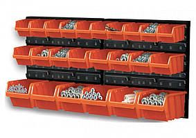 Перфорированная таблица 800х 195х 400 мм с ергобоксами 24 шт - VIROK