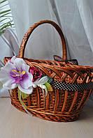 """Прикраса на кошик  """"Орхідея"""", фото 1"""