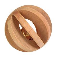 Игрушка для грызунов Trixie Мяч с погремушкой d=6 см (дерево)