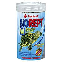 Сухой корм для водоплавающих черепах Tropical в палочках «Biorept W» 100 мл