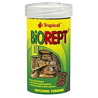 Сухой корм для сухопутных черепах Tropical в палочках «Biorept L» 100 мл