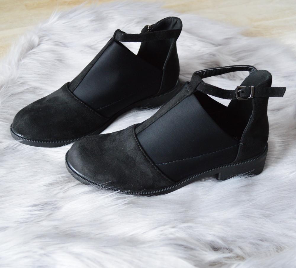 Туфлі жіночі чорні замшеві 36р