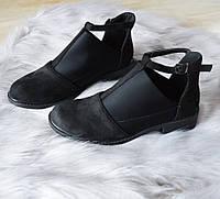 Туфлі жіночі чорні замшеві 36р, фото 1
