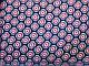 Шифон креповый цветочная геометрия, красный на темно-синем, фото 2