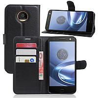 Чехол-книжка Litchie Wallet для Motorola Moto Z XT1650 Черный